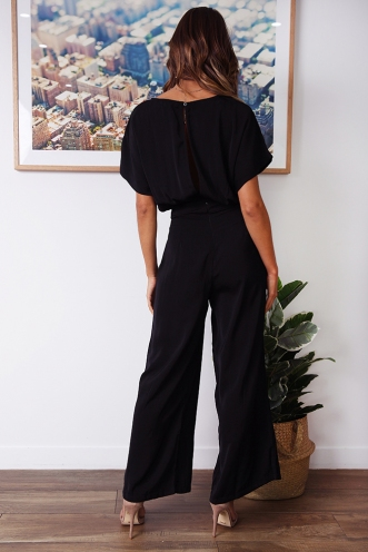Apple Of The Eye Jumpsuit - Black