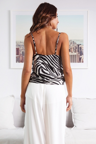 All About Me Top - Zebra Print