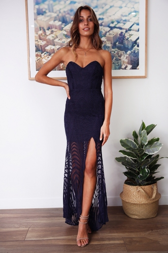 Whisk Her Away Dress - Navy