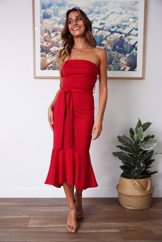 Love Affair Dress - Deep Red