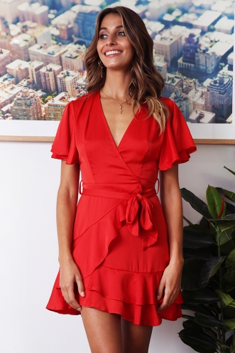 Fine Dining Dress - Red