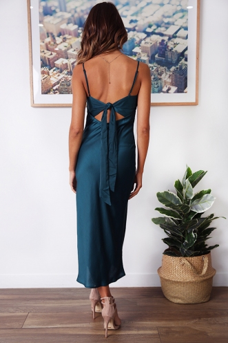 Davide Dress - Deep Teal