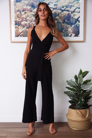 Sun Soaked Jumpsuit - Black