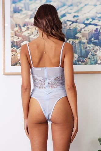Lounge All Day Bodysuit - Baby Blue