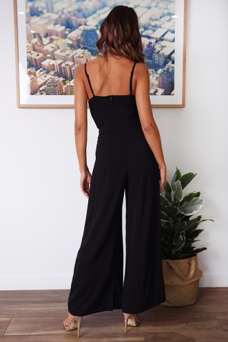 Blooming Fields Jumpsuit - Black