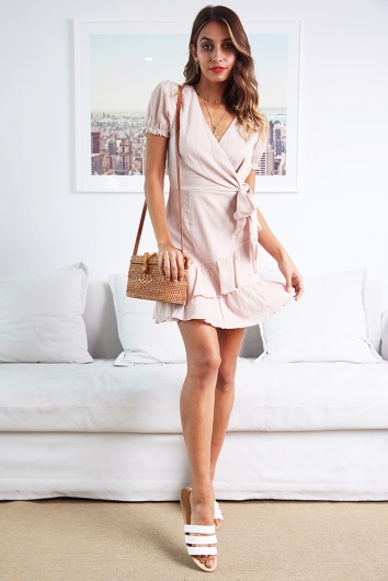 In High Spirits Dress - Beige