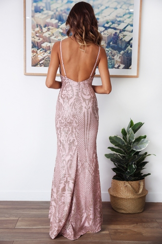 Elaina Dress - Rose Gold