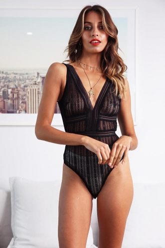 Temira Bodysuit - Black