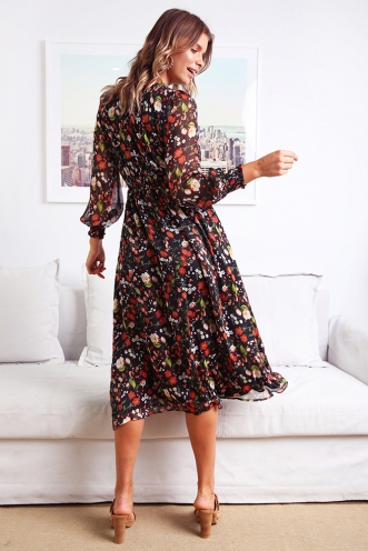 Alexa Dress - Black Print