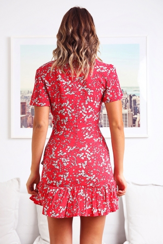Had It All Dress - Red Print