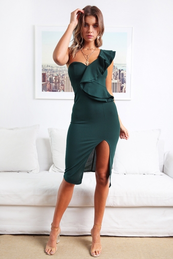 Close To Me Dress - Forest Green