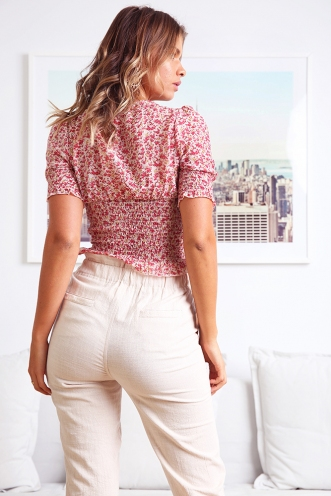Farm Fresh Top - Pink floral