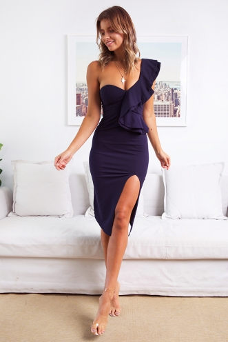 Close To Me Dress - Navy