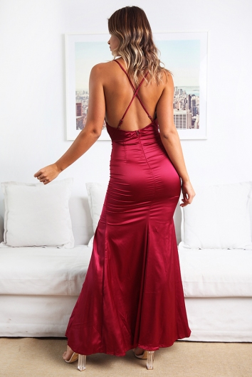 High Tide Dress - Maroon