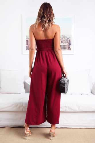 First Class Jumpsuit - Maroon