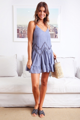 Spring Fresh Dress - Blue