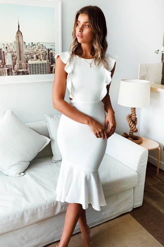 Make An Entrance Dress- White