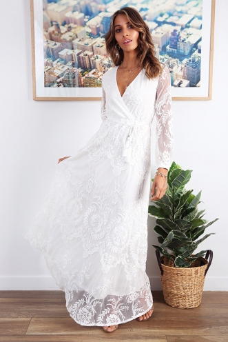To Be Me Dress - White