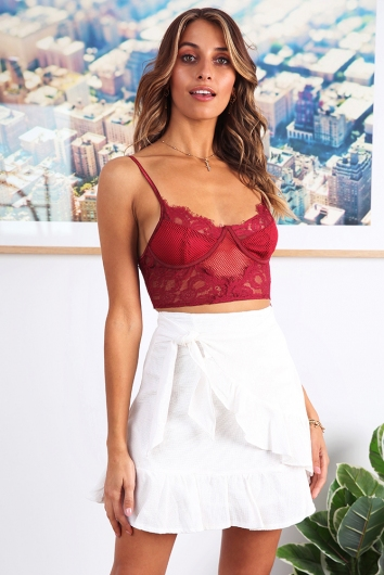 Deep Desire Top - Maroon