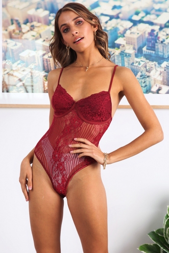 Lainey Bodysuit - Maroon
