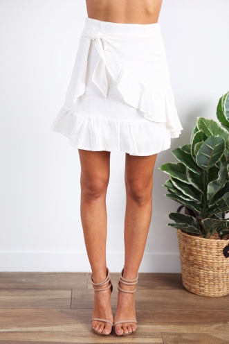 Born To Try Skirt - White