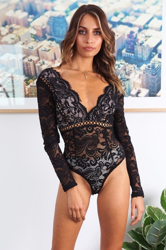Bella Ciao Bodysuit - Black