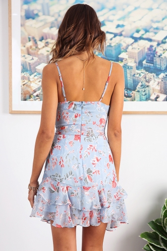 Fly With Me Dress - Blue Print