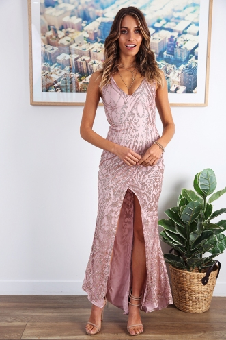 Sparkling Stars Dress - Gold Glitter