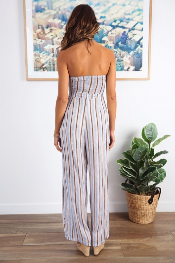 Bring it on jumpsuit - Blue Stripe