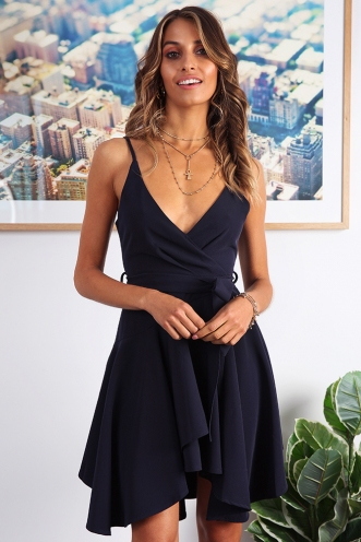 Adrianna Dress - Navy
