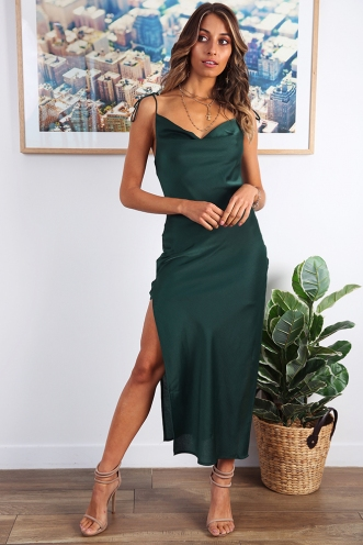 Shelby Dress - Forest Green