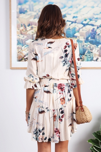 Birdie Spring Dress - Cream