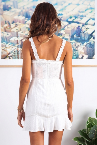 Dandelion Spring Dress - White