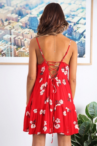 Krystal Dress - Red Print
