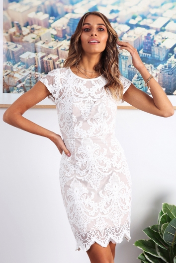 Lizzy Lace Dress - White