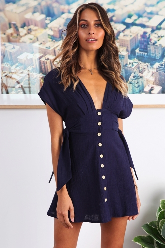 Celine Dress - Navy
