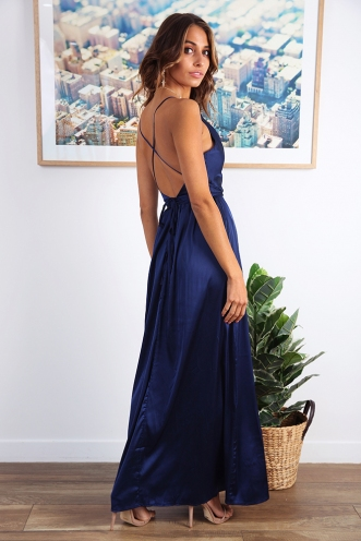 Visualise It Dress - Navy