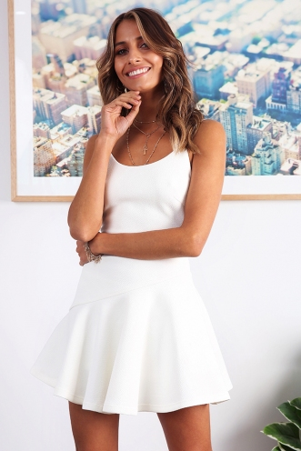 For The Kiss Dress - White