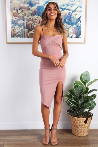 Roshini Dress - Dusty Pink