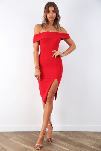 5cc3d5c0bedb Renata off the shoulder dress - Red - Stelly
