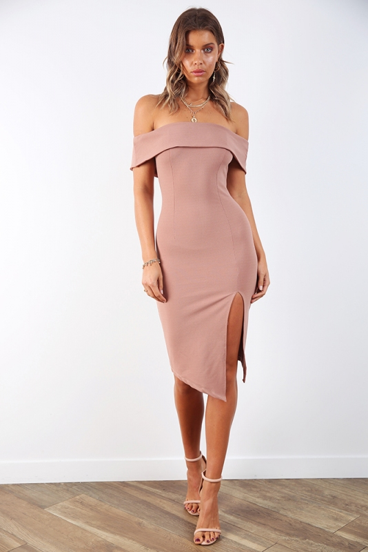 82328ae04ad Renata Off The Shoulder Dress - Blush. Loading zoom