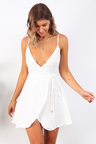 Time's Up Dress - White