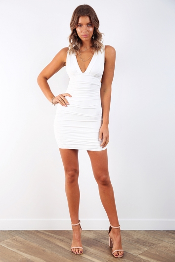 I Don't Bite Dress - White