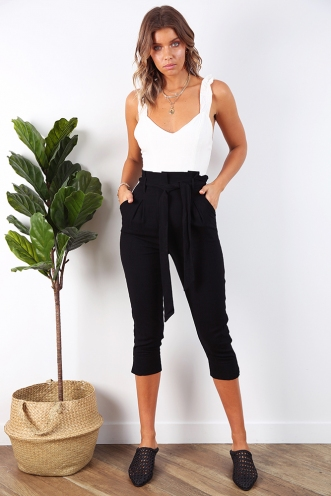 In the Beginning Jumpsuit - Black/White