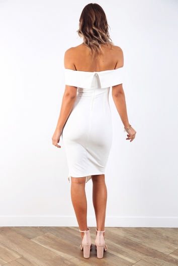 Renata Off The Shoulder Dress - White