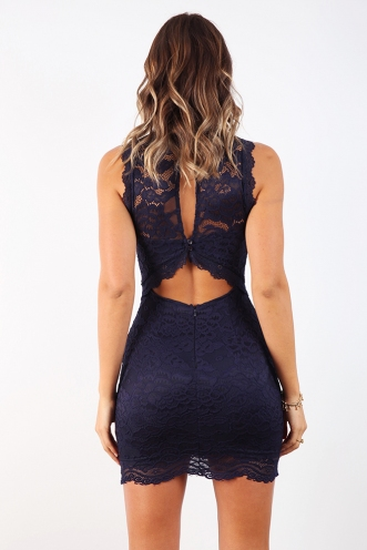 The Real Me Dress - Navy
