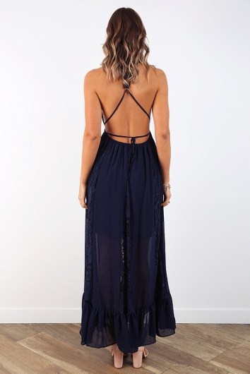 Roll With It Dress - Navy