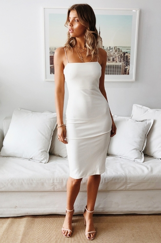 Tough Love Dress - White