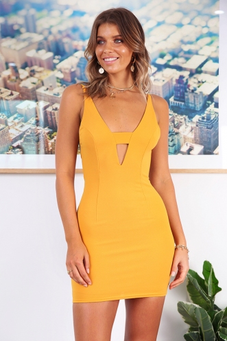 Bright Eyes Dress - Mustard