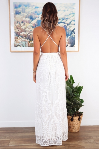 Laila Dress - White Lace